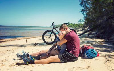 Beach Breaks during the Pensacola Coastal fat bike tour